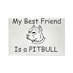 My Best Friend- Pitbull Rectangle Magnet (10 pack)