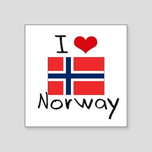 I HEART NORWAY FLAG Sticker