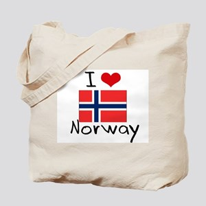 I HEART NORWAY FLAG Tote Bag