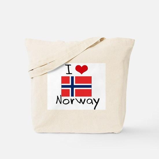 I HEART NORWAY FLAG Tote Bag