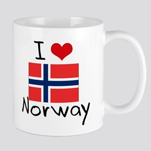 I HEART NORWAY FLAG Mug