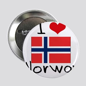 """I HEART NORWAY FLAG 2.25"""" Button"""