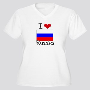 I HEART RUSSIA FLAG Plus Size T-Shirt