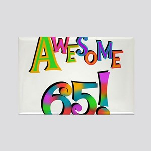Awesome 65 Birthday Rectangle Magnet