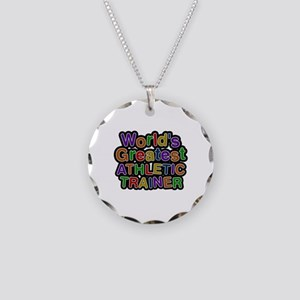World's Greatest ATHLETIC TRAINER Necklace Circle