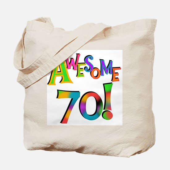 Awesome 70 Birthday Tote Bag