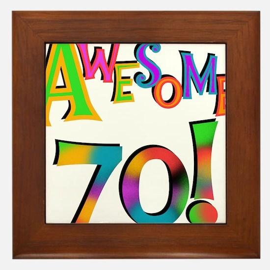 Awesome 70 Birthday Framed Tile