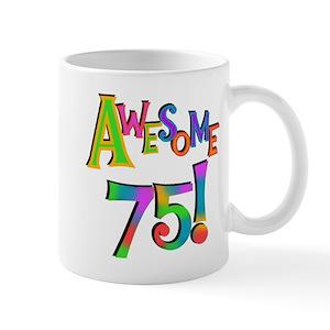 75th birthday mugs cafepress