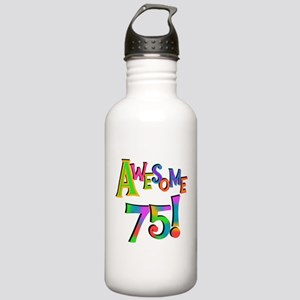 Awesome 75 Birthday Water Bottle