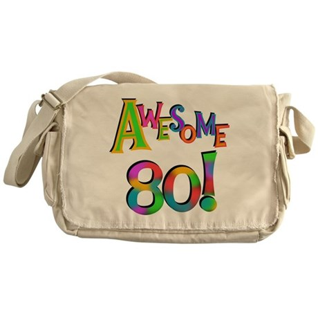 Awesome 80 Birthday Messenger Bag