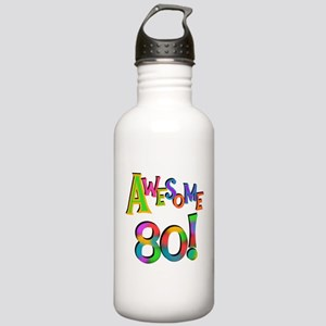 Awesome 80 Birthday Water Bottle