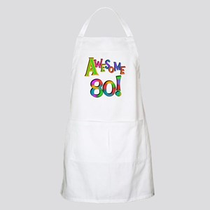 Awesome 80 Birthday Apron