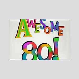 Awesome 80 Birthday Rectangle Magnet