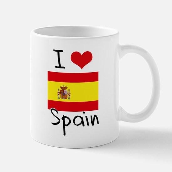 I HEART SPAIN FLAG Mug