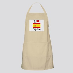 I HEART SPAIN FLAG Apron