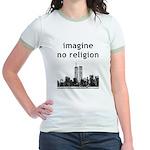 Imagine No Religion Jr. Ringer T-Shirt