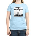 Imagine No Religion Women's Pink T-Shirt