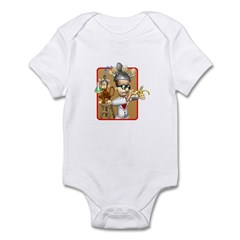 Funny Mad Scientist Monkey Experiment Infant Bodys