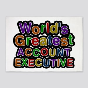 World's Greatest ACCOUNT EXECUTIVE 5'x7' Area Rug