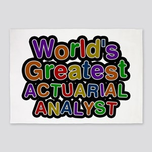 World's Greatest ACTUARIAL ANALYST 5'x7' Area Rug