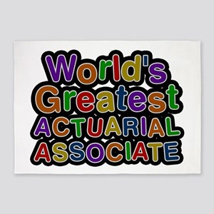 World's Greatest ACTUARIAL ASSOCIATE 5'x7' Area Ru