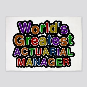 World's Greatest ACTUARIAL MANAGER 5'x7' Area Rug