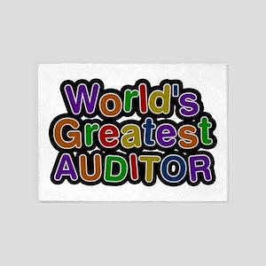 World's Greatest AUDITOR 5'x7' Area Rug