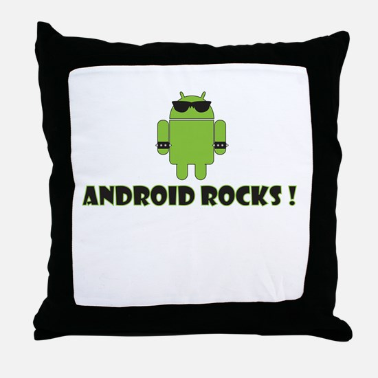 Android Rocks Throw Pillow