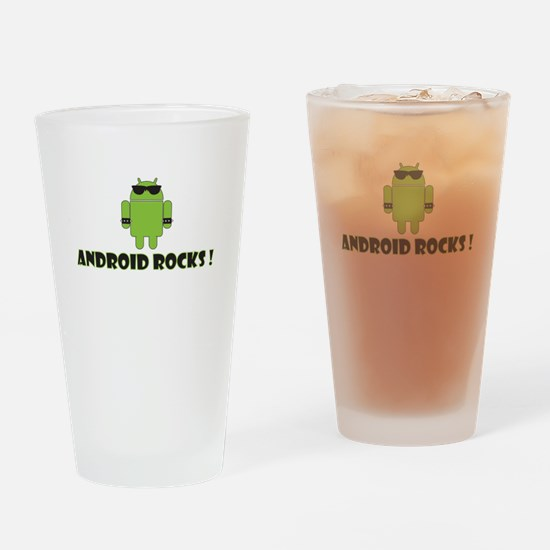 Android Rocks Drinking Glass