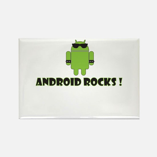 Android Rocks Rectangle Magnet