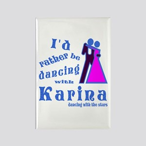 Dancing With Karina Rectangle Magnet