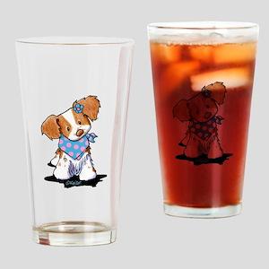Brittany Spaniel Girl Drinking Glass
