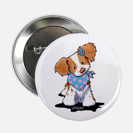 "Brittany Spaniel Girl 2.25"" Button"