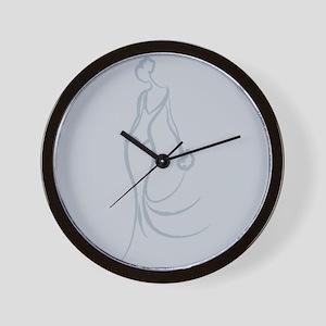 Art Deco Bride Wall Clock