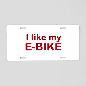 I like my e-bike design Aluminum License Plate