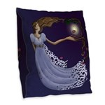 The Princess Burlap Throw Pillow