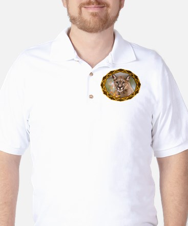 Geometric Cougar Golf Shirt