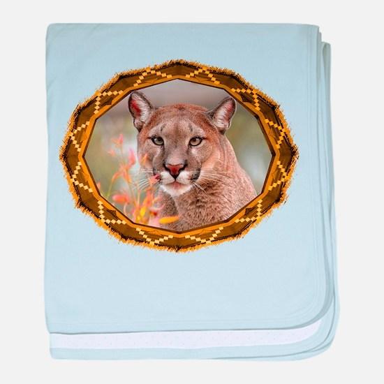 Geometric Cougar baby blanket
