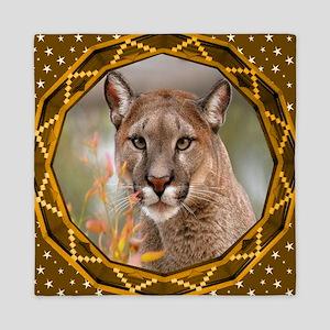 Geometric Cougar Queen Duvet
