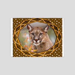 Geometric Cougar 5'x7'Area Rug