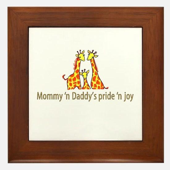 Mommy n Daddys pride n joy Framed Tile