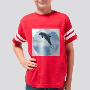 10X10DolphinDaybreakRound Youth Football Shirt