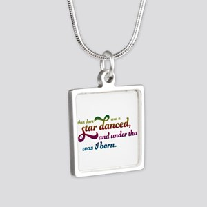A Star Danced - Colors Silver Square Necklace