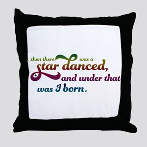 A Star Danced - Colors Throw Pillow