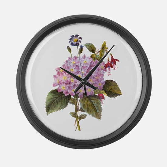 Redoute Bouquet Large Wall Clock