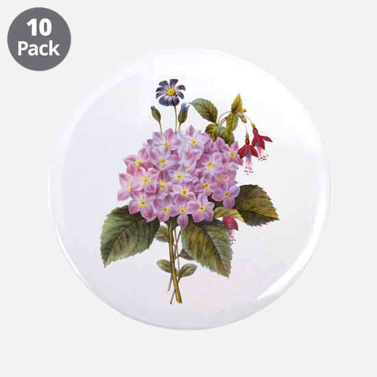 "Redoute Bouquet 3.5"" Button (10 pack)"