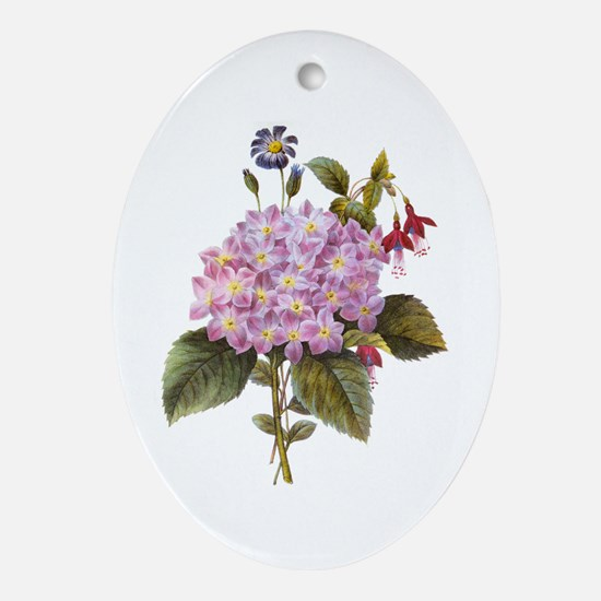 Redoute Bouquet Ornament (Oval)