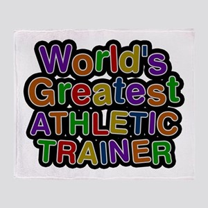 World's Greatest ATHLETIC TRAINER Throw Blanket