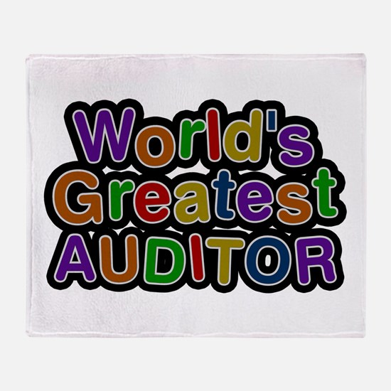 World's Greatest AUDITOR Throw Blanket