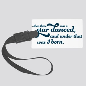A Star Danced - Blue Large Luggage Tag
